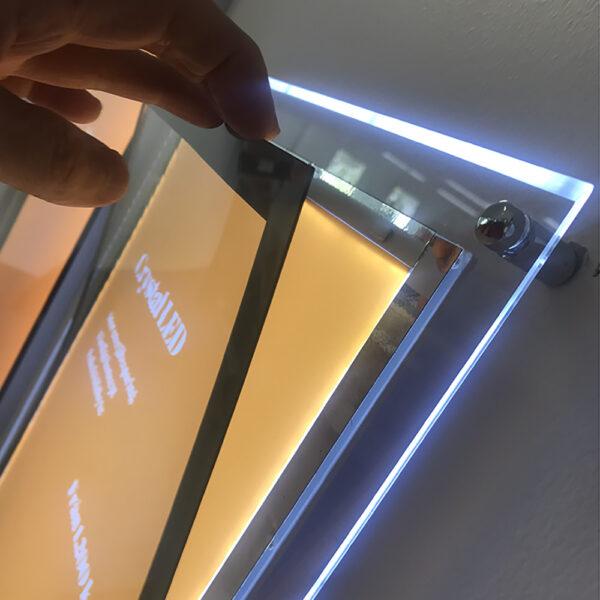 Crystal LED magnet
