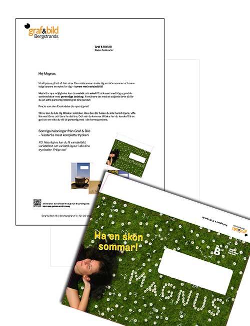 Variabla bilder på kuvert