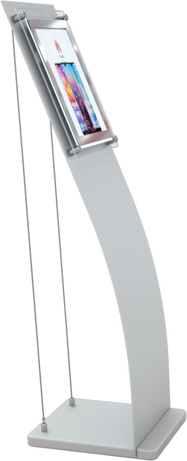 LED menyhållare för golvplacering