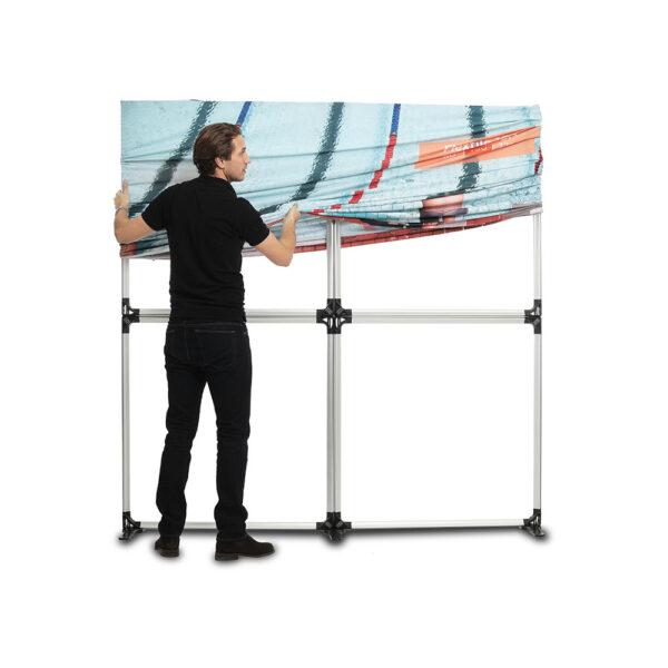 Dubbelsidig väggsystem för textila bilder