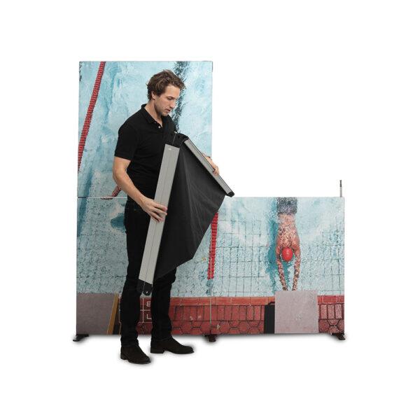 Portabela textila väggar