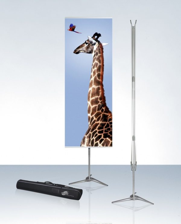 Bannerstand Pole system sidovy