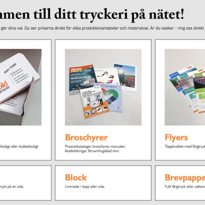 Trycksaker & Produktmedia