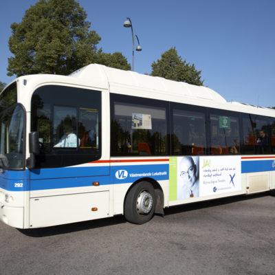 Bussreklam lokaltrafik