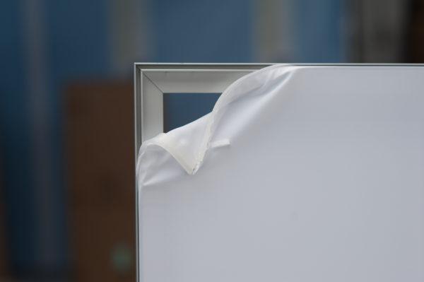 Siliconlist för textilbild, aluminiumram